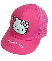 Кепка детская Хеллоу Китти на резиночке /Hello Kitty Sanrio/ хлопок /размер: 46-48 (1-2 года)/малиновая
