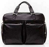 Черная мужская классическая сумка-портфель BLAMONT Bn002A
