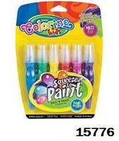 """Ручка """"JUMBO"""" с кисточкой наполненная краской, 6 цветов, ТМ Colorino"""