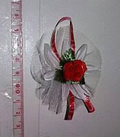 Свадебные цветочки для гостей (цвет - красный) Ц-г-3-кр