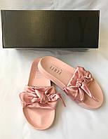 Женские сланцы Puma by Rianna Fenty Bow Slide Pink розовые
