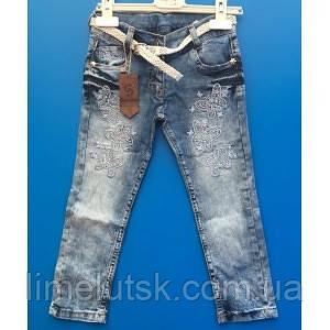 4b6dee5e654a03e Летние голубые джинсы со стразами для девочек 5-7 лет - Интернет-магазин  детской