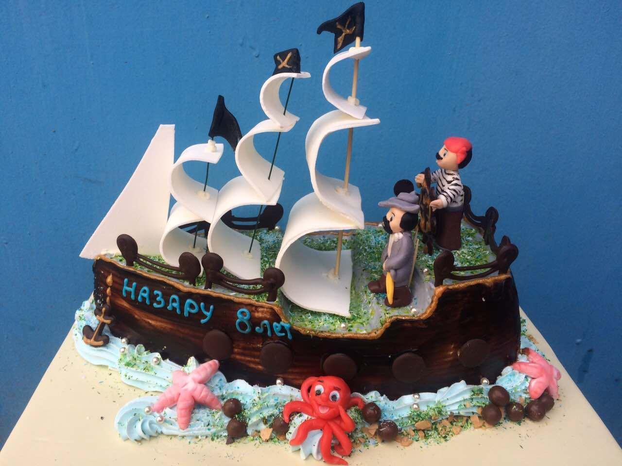 """Торт """"Пиратский корабль"""""""