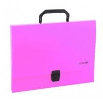 Портфель пластиковий A4 Economix на застібці, 1 відділення, рожевий
