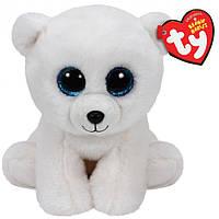 Мягкая игрушка белый Медвежонок 15 см. Оригинал TY Inc.