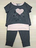 Woorage Комплект для девочки р4-14 серый/пудра