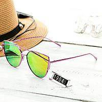 Женские очень стильные и модные очки Hend Made в стиле Диор малиновые