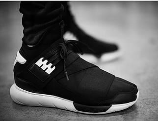 Кроссовки мужские в стиле Y-3 Qasa High Black/White