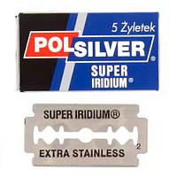 Polsilver Super Iridium Double Edge Razor Blades, 5 pack Двусторонние лезвия 5 шт