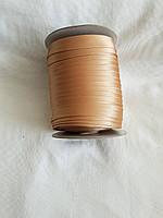 Бейка Лямівка атласна 15 мм, золотисто бежева №187