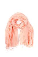 Нежный розовый однотонный шарф из льна и шелка