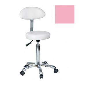 Стульчик мастера со спинкой (розовый) 1023АВ2