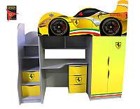 Детская кровать-комната Bed-Room Ferrari, серия Драйв спальное место 1700*800, бесплатная доставка в Ваш город