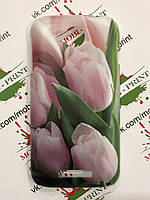 Чехол для Lenovo A706 (розовые тюльпаны)