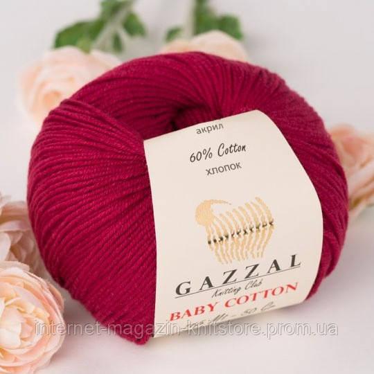 Пряжа Gazzal Baby Cotton Бордовый