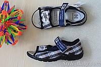 Тапочки босоножки клетка на мальчика польская текстильная обувь тм 3F р. 24,25,26,29