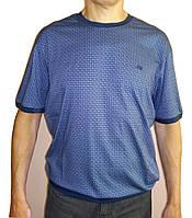 Синяя футболка большого размера, фото 1