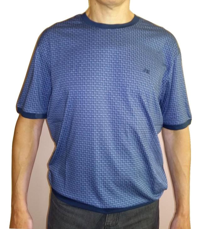 Мужская синяя футболка большого размера