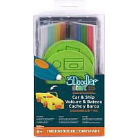 Набор аксессуаров для 3D-ручки 3Doodler Start - ТРАНСПОРТ 3DS-DBK-VE
