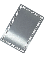 Визитка металлическая  с греческим  орнаментом 86*54*0.32 мм под сублимацию(СЕРЕБРО)