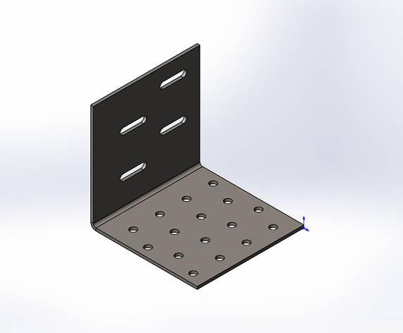 Уголок перфорированный регулируемый усиленный 80x80x80x1.8. ТМ Кольчуга (Kolchuga), фото 2