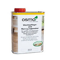 Масло-воск Osmo, для покрытого пола белым маслом 1л.
