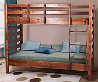 Двухъярусная кровать Троя, 2-х ярусная кровать цвет темный орех
