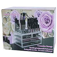 Бесплатная доставка Акриловый органайзер для косметики Cosmetic Storage Box
