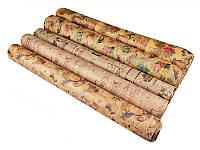 """Бумага для упаковки подарков """"крафт"""" 5 видов 70х100"""