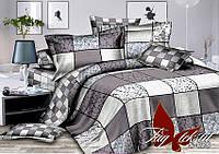 Евро комплект постельного белья сатин с компаньоном S058 ТМ TAG