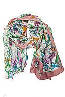 Женский разноцветный шарфс принтом в виде цветов
