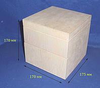 Комод-шкатулка на 2 деления 17х17,5х17 см фанера заготовка для декора
