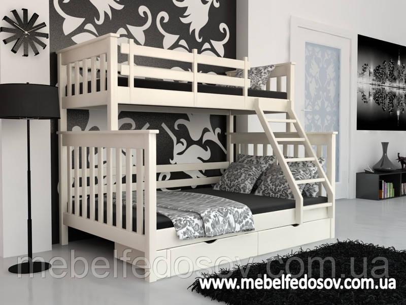 Кровать Скандинавия двухъярусная 140 (Мебигранд/Mebigrand) 1480х2020(2120)х1700мм