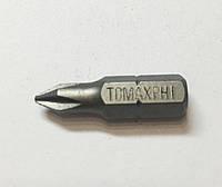Насадка (бита) для шуруповёрта и отвёртки под саморезы Tomax (томакс) PH1*25 мм