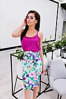 Очень красивый и стильный женский костю (юбка и блуза)