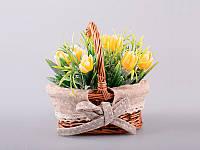 Цветы искусственные в кашпо 14х11 см