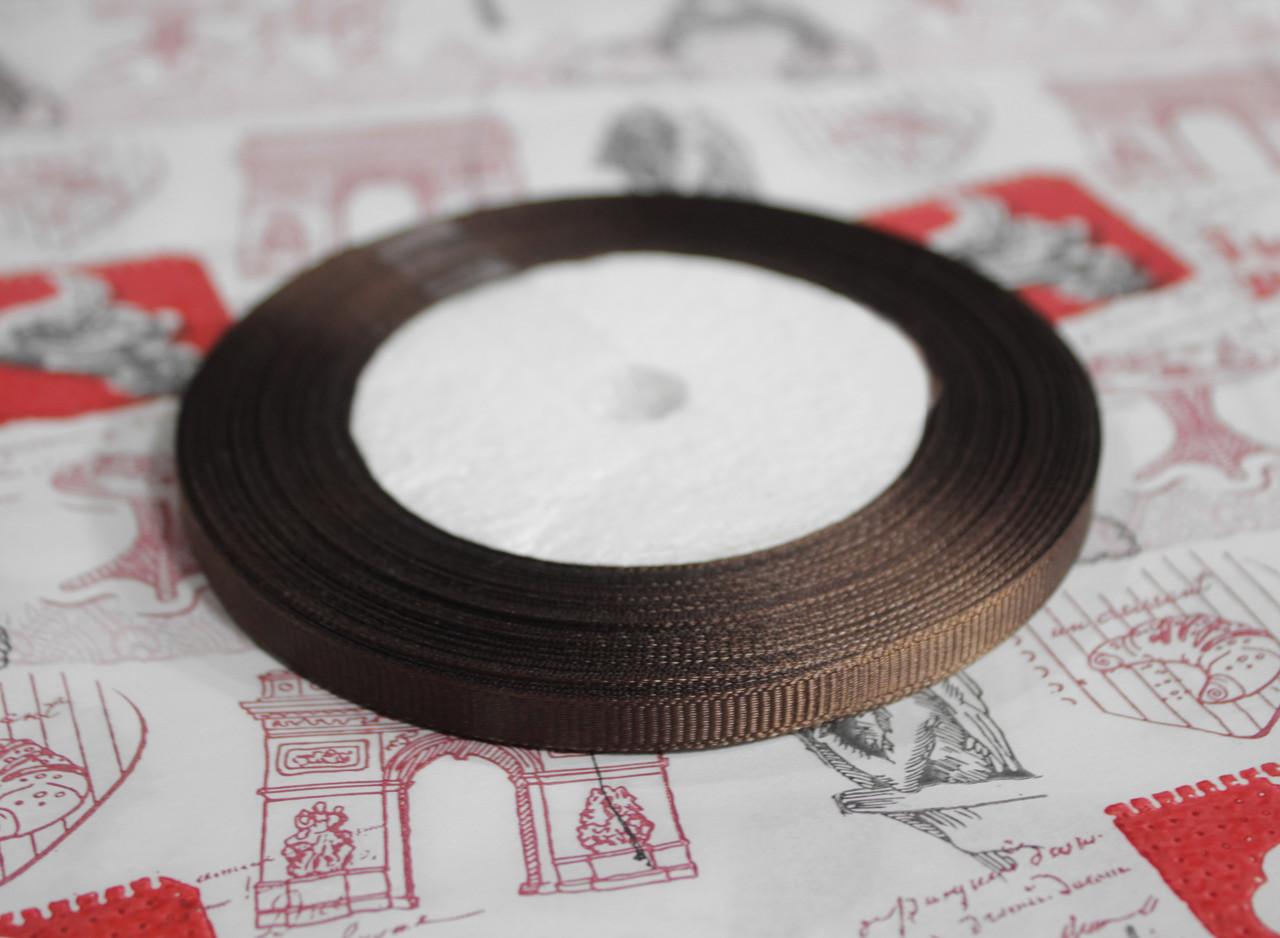 Лента репсовая шоколад 9 мм, 23 м