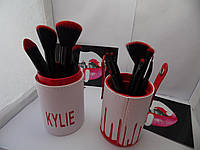 Набор кистей для макияжа Kylie Jenner 11 штук (красный)