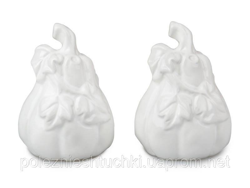 Набор для специй 2 пр. 11х6,5 см., белый керамический Lefard