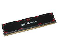 Память 4Gb DDR4, 2400 MHz, Goodram Iridium Black, 15-15-15, 1.2V, с радиатором (IR-2400D464L15S/4G)