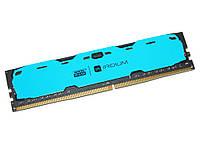 Память 4Gb DDR4, 2400 MHz, Goodram Iridium Blue, 15-15-15, 1.2V, с радиатором (IR-B2400D464L15S/4G)