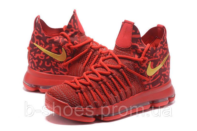 Мужские баскетбольные кроссовки Nike KD 9 Elite (Varsity Red/Gold)