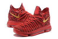 Мужские баскетбольные кроссовки Nike KD 9 Elite (Varsity Red/Gold), фото 1