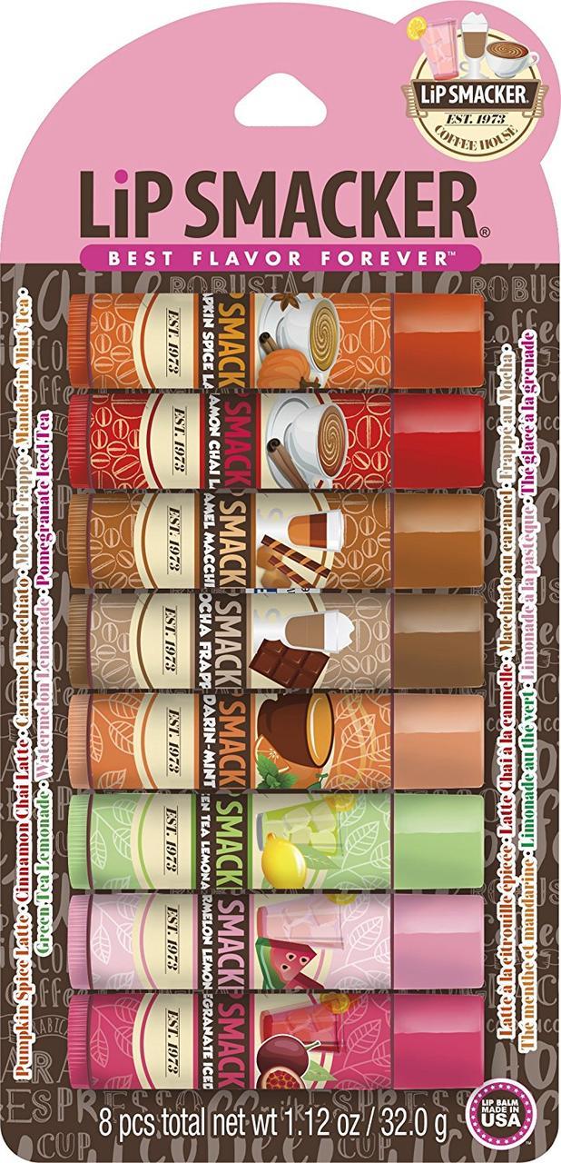 Бальзамы для губ Lip Smacker Coffee and Tee 8 шт