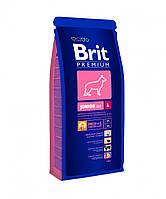 Brit Premium (Брит Премиум) JUNIOR L 3кг - корм для щенков и молодых собак (3-24мес.) крупных пород (25-45кг)