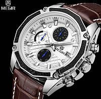 Мужские классические наручные часы Megir Techno