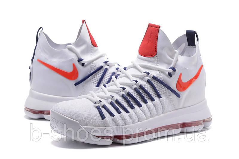 Мужские баскетбольные кроссовки Nike KD 9 Elite (White/Dark Blue)