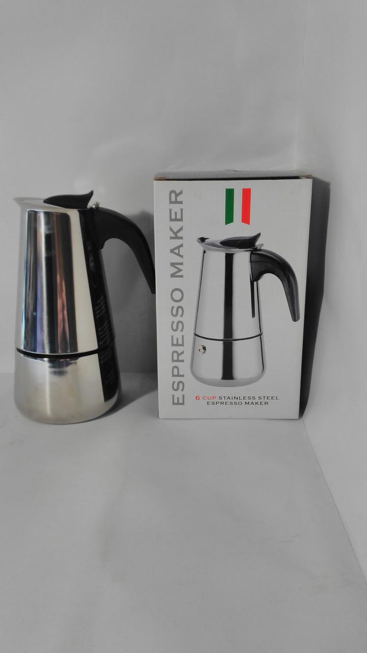 Гейзерна кавоварка з нержавійки на 9 чашок