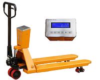 Ручная гидравлическая тележка cо встроенными весами SAC25, г/п 2,5тн, вилы 1150 мм