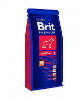 Brit Premium (Брит Премиум) ADULT L 3кг - корм для взрослых собак (от2-7лет) крупных пород (25-45кг)